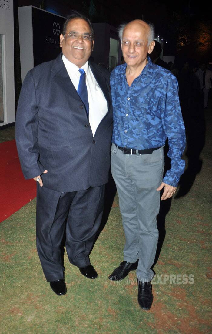 Filmmaker Mukesh Bhatt poses for a picture along with Satish Kaushik. (Photo: Varinder Chawla)
