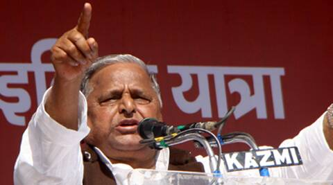 Mulayam said he was contesting from Azamgarh on demand of party workers. (Express Archive)