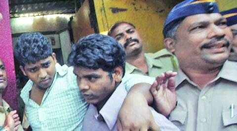 Convicts being taken to sessions court from Arthur Road jail on Tuesday. Kevin D'Souza