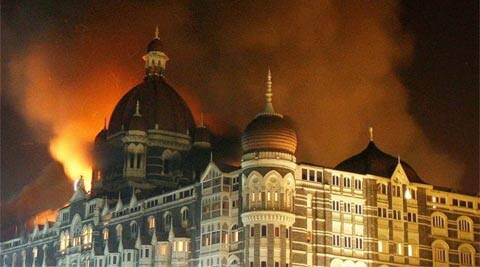 Smoke rises from the Taj Hotel during the 2008 Mumbai terror attacks. (Reuters)