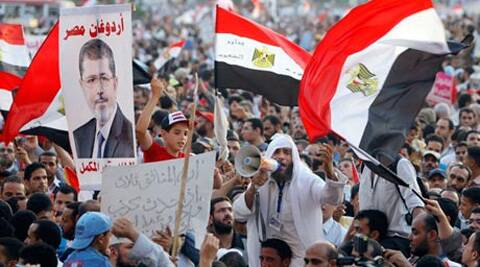 Muslim Brotherhood supporters in Tahrir Square (AP)