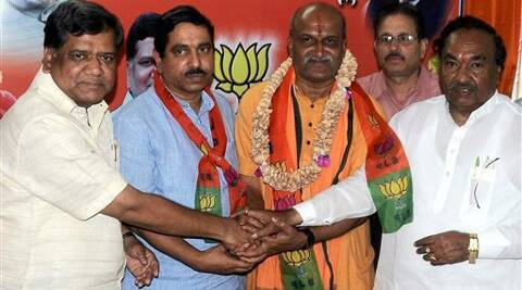 Pramod Muthalik's entry into BJP comes close on the heels of the party admitting B S R Congress chief B Sriramulu. (PTI)