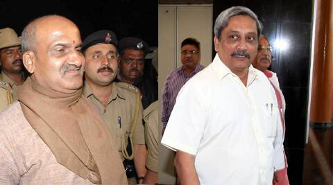 Manohar Parrikar said that he had conveyed his opposition to national leadership of the party without specifying Pramod Muthalik's name. (Express Archive)