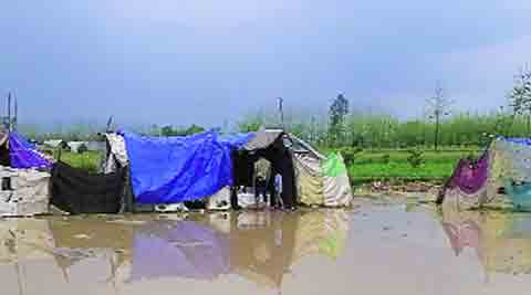 The flooded Malakpur relief camp on Wednesday. Ujala Chowdhry