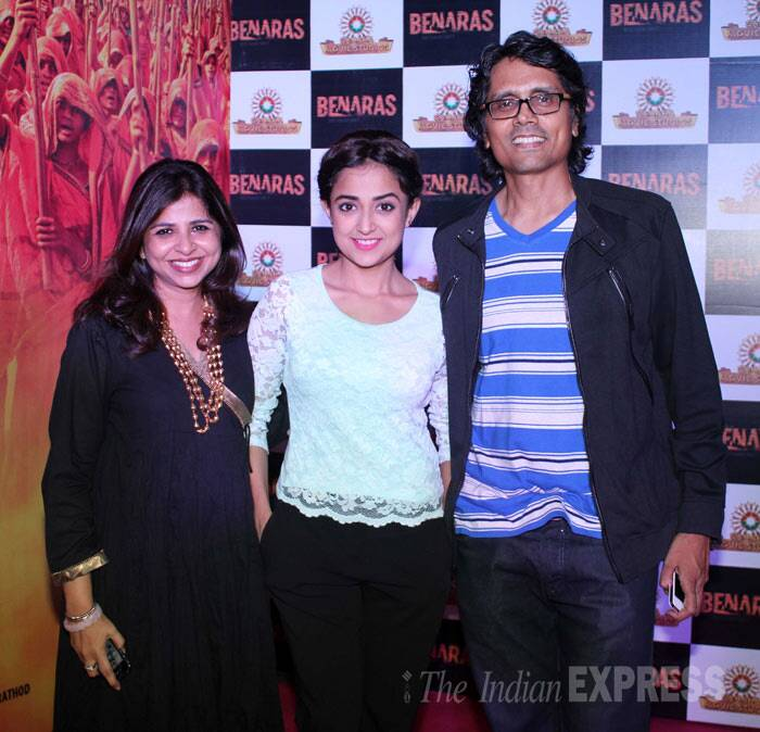 'Dor' director Nagesh Kukunoor was accompanied by wife Elahe Hiptoola and singer-turned-actress Monali Thakur. Monali is making her Bollywood debut with 'Laxmi.' (Photo: Varinder Chawla)
