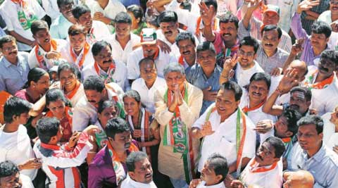Tech billionaire Nandan Nilekani is contesting the April 17 election. (Express Photo)