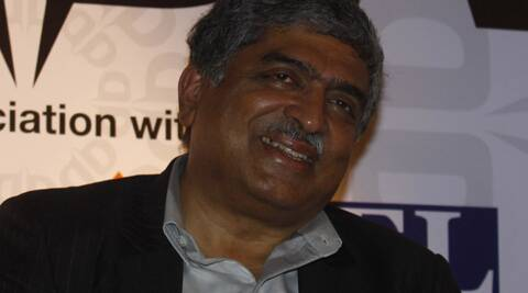 Nandan Nilekani declared that he and his wife Rohini have assets worth Rs 7,700 crore. (Express Archive)