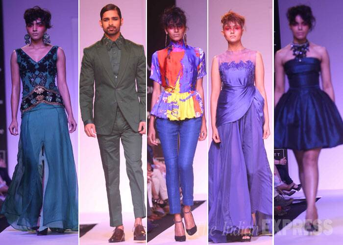 Designer Narendra Kumar also showcased his collection on Day 2. (Photo: Varinder Chawla)