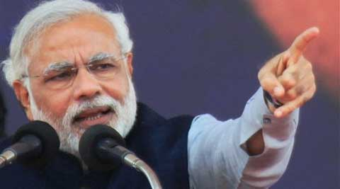 Narendra Modi Thursday spelt out his vision for agriculture, stressing that he favoured policies that would double per-hectare production. (IE)