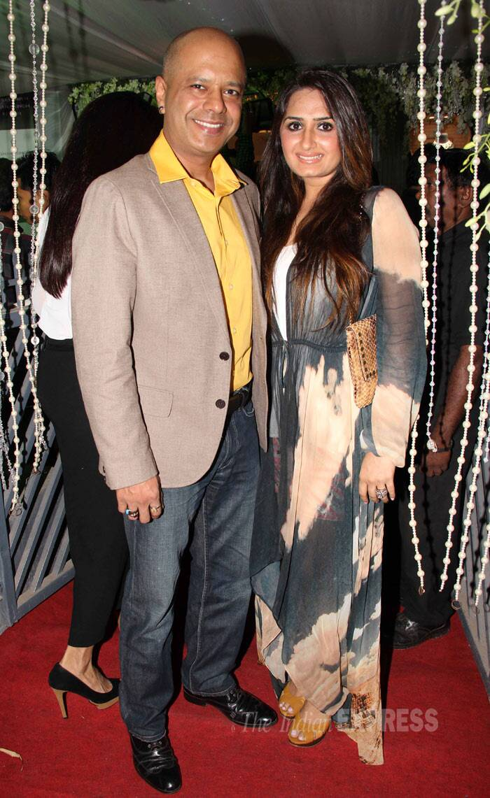 Naved Jafferi of 'Boogie Woogie' was accompanied by his wife Sayeeda. (Photo: Varinder Chawla)