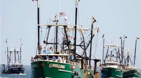 Sri Lankan navy on Monday arrested 32 Indian fishermen  for allegedly entering its waters (PTI)