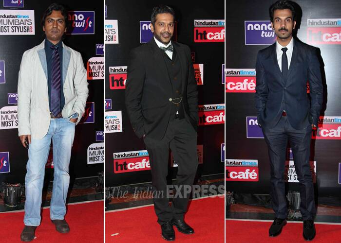 Actors Nawazuddin Siddiqui,  Rajkumar Rao and designer Rocky S were dapper at the event. (Photo: Varinder Chawla)