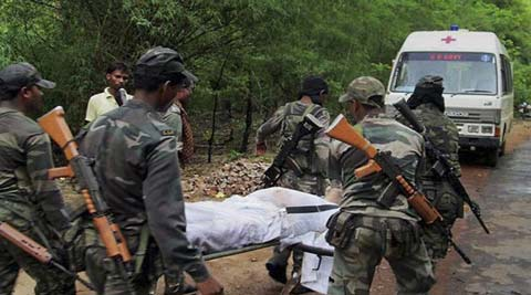 The political class was outraged after Naxalites claimed 16 lives. (Indian Express)