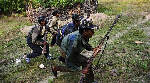 Eleven suspected Naxals, including six women, were apprehended by security forces  in Chhattisgarh on Saturday