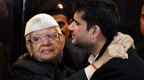 After years of denial, N D Tiwari publicly accepted 35-year-old Rohit Shekhar as his son. (PTI Photo)
