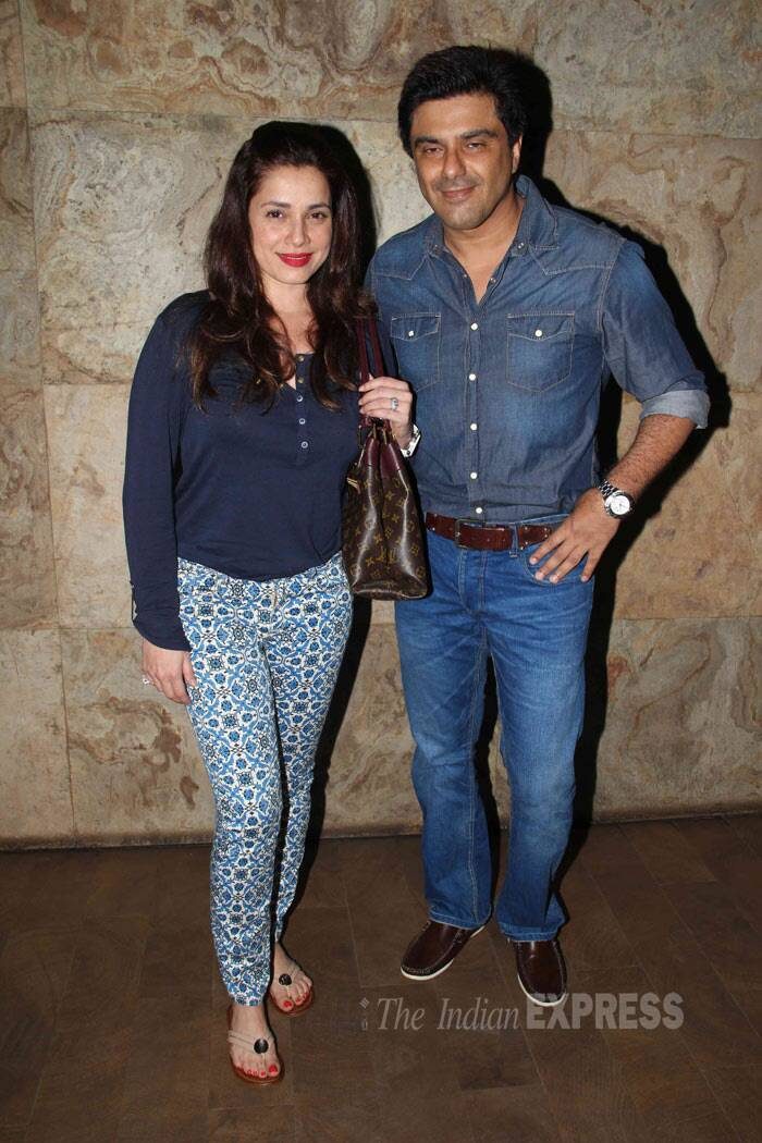 Samir Soni was seen with his pretty wife Neelam. (Photo: Varinder Chawla)
