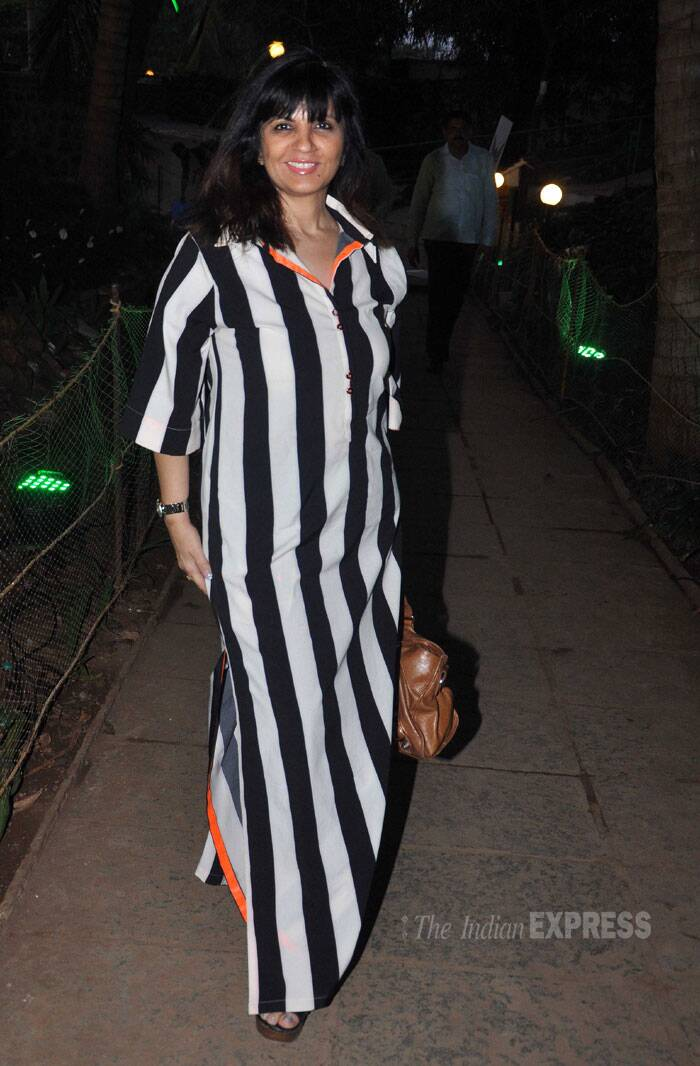 Designer Neeta Lulla made an appearance in a monochrome maxi dress. (Photo: Varinder Chawla)