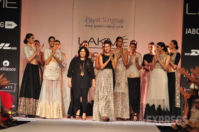 Neha Dhupia returns to the ramp with Payal Singhal. (Photo: Varinder Chawla)