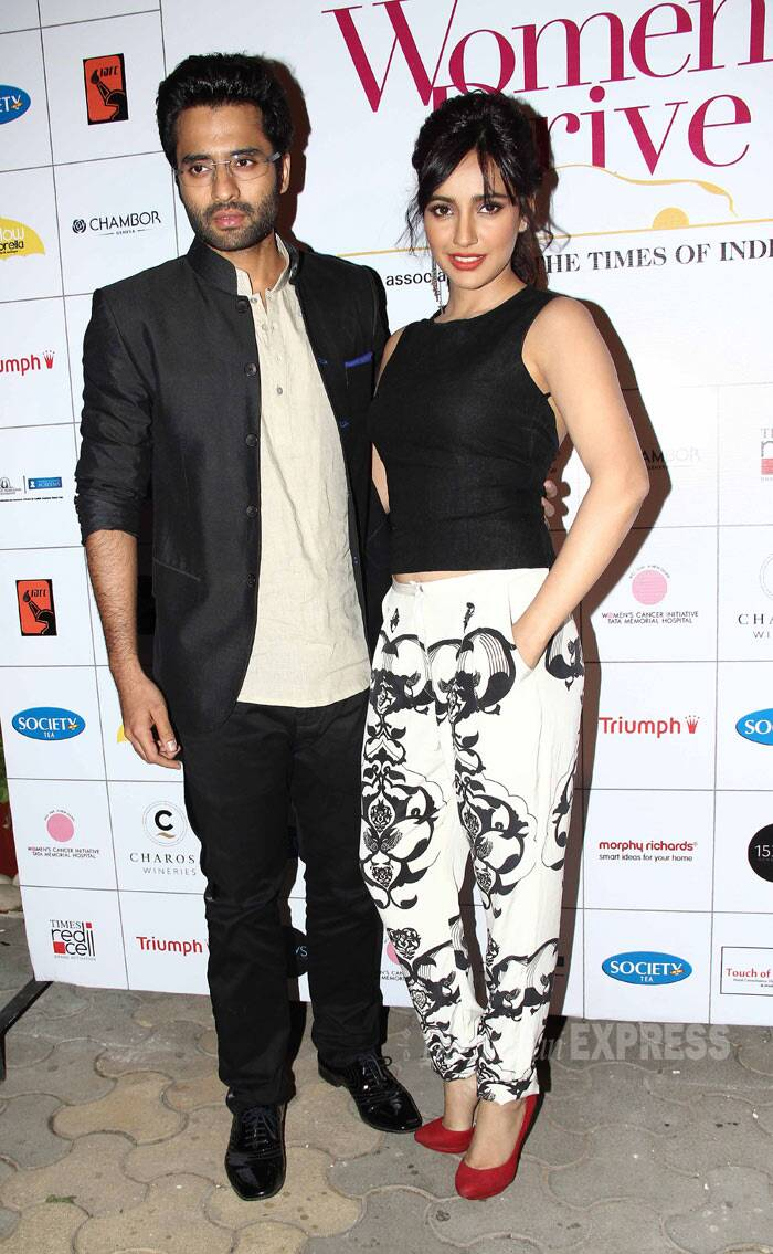 'Youngistan' couple Jackky Bhagnani and Neha Sharma were also at the event. (Photo: Varinder Chawla)