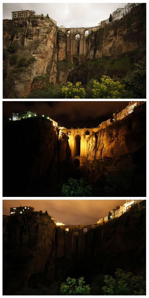 Iconic places during the Earth Hour
