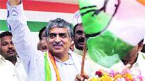 Welcomed by Cong who's who in Bangalore, Nandan Nilekani joins