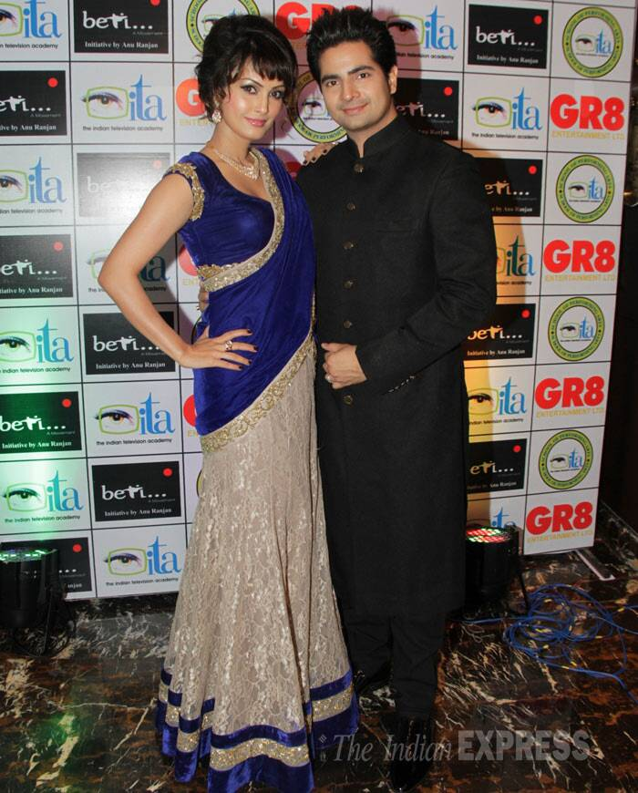 TV actors Karan Mehra and wife Nisha Rawal were also seen at the show. (Photo: Varinder Chawla)