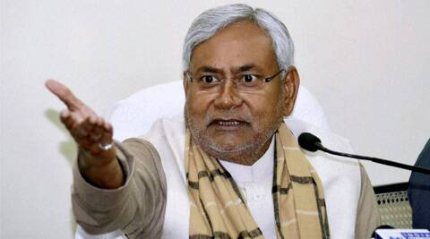 Nitish categorically ruled out siding either with Congress or BJP after the polls.(Express Archive)