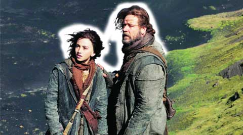 Madison Davenport and Russell Crowe in Noah