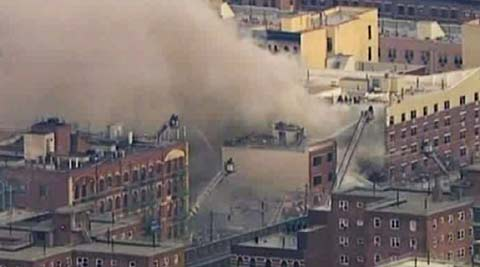 Building collapses in New York. (AP)