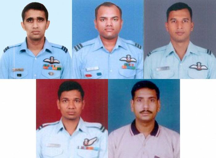 Those killed in the crash are the aircraft's Captain Wing Commander Prashant Joshi, Wing Commander Raji Nair, Squadron Leader Kaushik Mishra, Squadron Leader Ashish Yadav (Navigator) and Warrant Officer Krishnapal Singh (Flight Engineer), IAF officials said. (PTI)