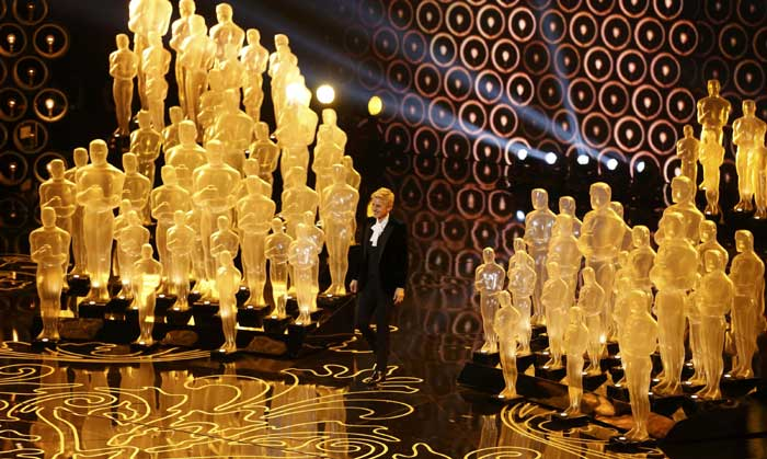 Comedian and talk show host Ellen DeGeneres was an absolute hit as the host and presenter at the 86th Academy Awards. Many saw Ellen's appearance at the Oscars as calculated to project a lighter, more affable tone for Hollywood's biggest night after the provocative performance of her immediate predecessor, Seth MacFarlane. (AP)