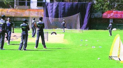 Pakistan bowlers are pitching it in the block hole at the nets.