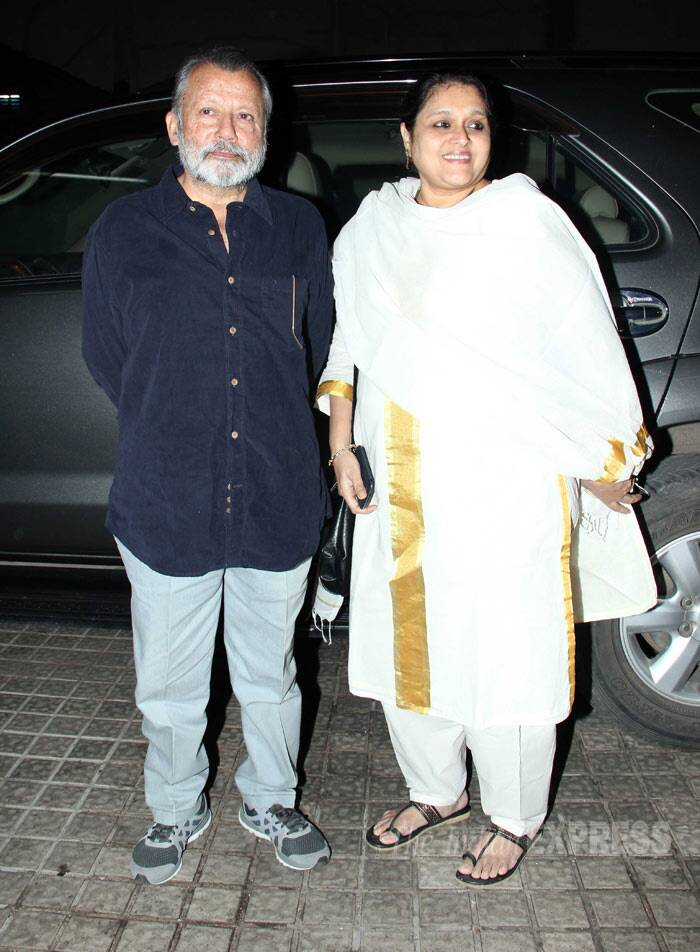 Shahid Kapoor's father director Pankaj Kapur along with his actress wife Supriya Pathak. (Photo: Varinder Chawla)