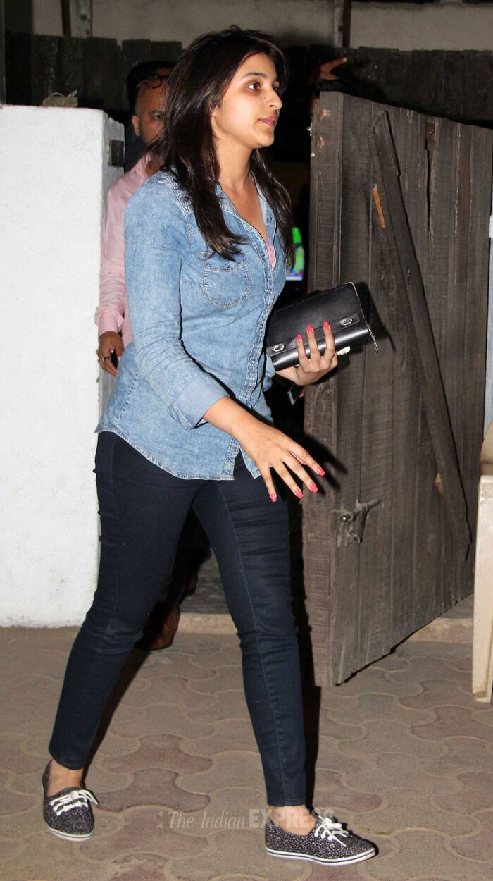 Meanwhile, 'Hasee Toh Phasee' actress Parineeti Chopra was also snapped on a night out. (Photo: Varinder Chawla)