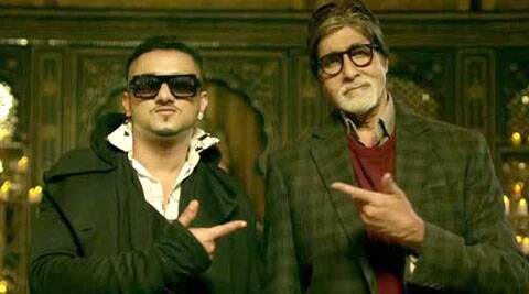 Amitabh Bachchan and Yo Yo Honey Singh in 'Party with the Bhoothnath'.