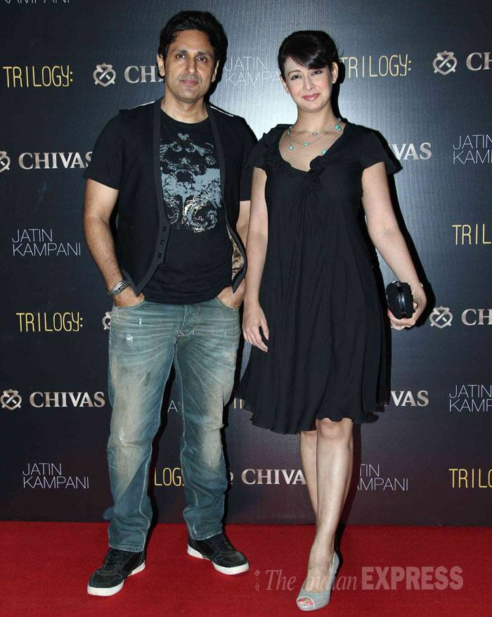 Actress Preeti Jhangiani was seen with her director husband Pravin Dabas.(Photo: Varinder Chawla)