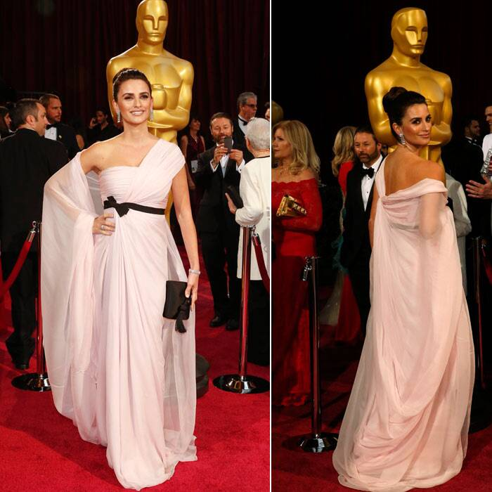 Penelope Cruz: The actress failed to impress in her pink Giambattista Valli gown. The black belt was seemed almost too harsh on the pale pink and the half-cape definitely was a no-win. (Reuters)