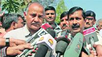 Arvind Kejriwal and Manish Sisodia in Ahmedabad on Friday.	Javed Raja