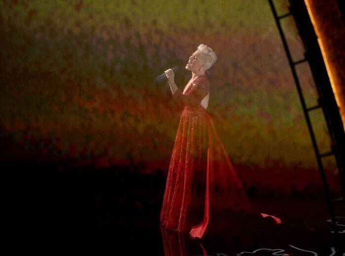 Pink performs during the Oscars at the Dolby Theatre. (AP)