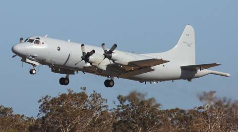A Royal Australia Air Force AP-3C Orion leaves the RAAF Pearce Air Base. (AP)