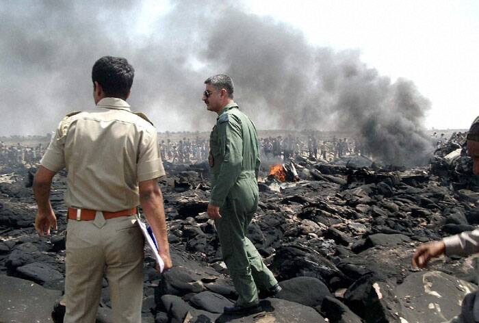 """One C-130J aircraft crashed 72 miles (115 km) west of Gwalior air base. The aircraft was airborne from Agra at 1000 hours for a routine flying training mission,"" an IAF spokesperson said. (PTI)"