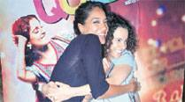 Lisa Hayden and Kangana Ranaut at the screening of Queen