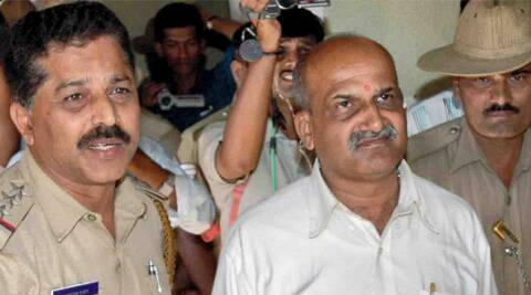 Muthalik, the controversial chief of Sri Rama Sene, is linked with the attack on women at a pub in Mangalore in 2009. (Express Archive)