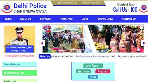Delhi Police prides itself on its online capabilities. IE photos