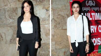 PHOTOS: Prachi Desai, Elli Avram watch 'Lakshmi'