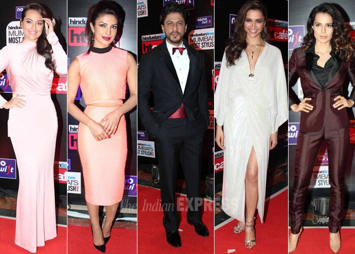 Bollywood beauties including Deepika Padukone, Kangana Ranaut, Priyanka Chopra Sonakshi Sinha, Shah Rukh Khan, among others, stepped out in their stylish best at the a leading daily's style awards. The actors were impeccable with their style and panache at the event held in Mumbai on Saturday (March 8). Take a look! (Photo: Varinder Chawla)