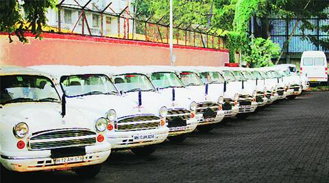 Vehicles of Pune Municipal Corporation lined up at Gultekadi depot on Wednesday.Arul Horizon