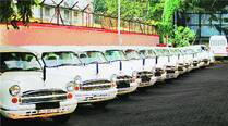 Vehicles of Pune Municipal Corporation lined up at Gultekadi depot on Wednesday.	Arul Horizon