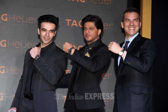 'Gori Tere Pyar Mein' director Punit Malhotra also joined SRK at the unveiling. (Photo: Varinder Chawla)