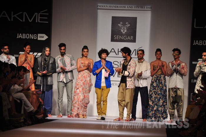 Sengar's collection reflected a modern take on traditional Indian cuts and fabrics. (Photo: Varinder Chawla)